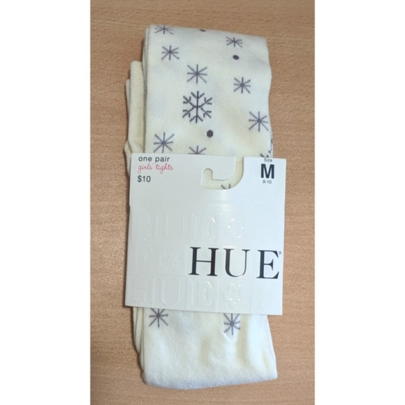 HUE Other - 🎁 Size 8/10 NEW Snowflake sweater tights